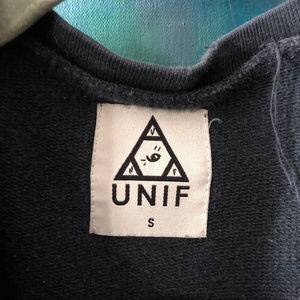 UNIF Tops - UNIF Sweat Shirt sz S Go to Hell for Heavens Sake